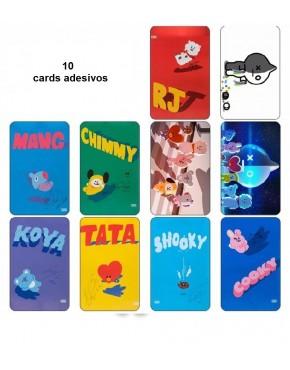 BTS BT21 Card Adesivo