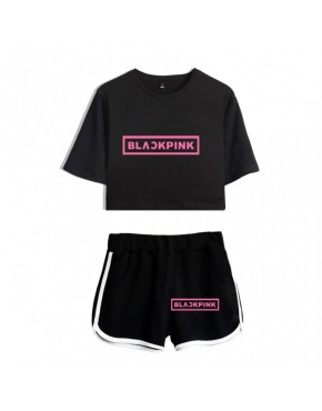 Conjunto Blackpink ( Shorts+Cropped)