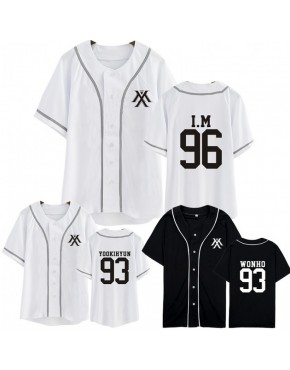 Camisa de Baseball Jersey Monsta X Membros
