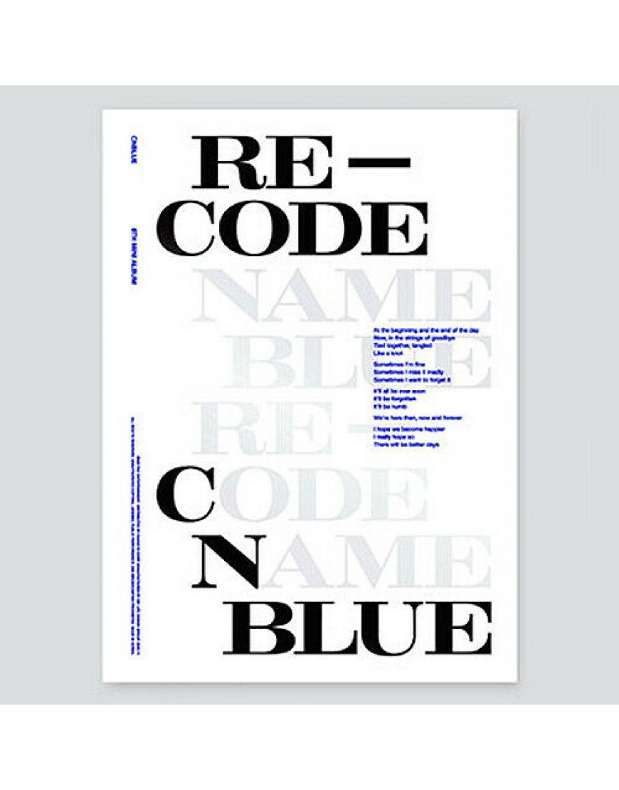 CNBLUE - RE-CODE (Special version) popup