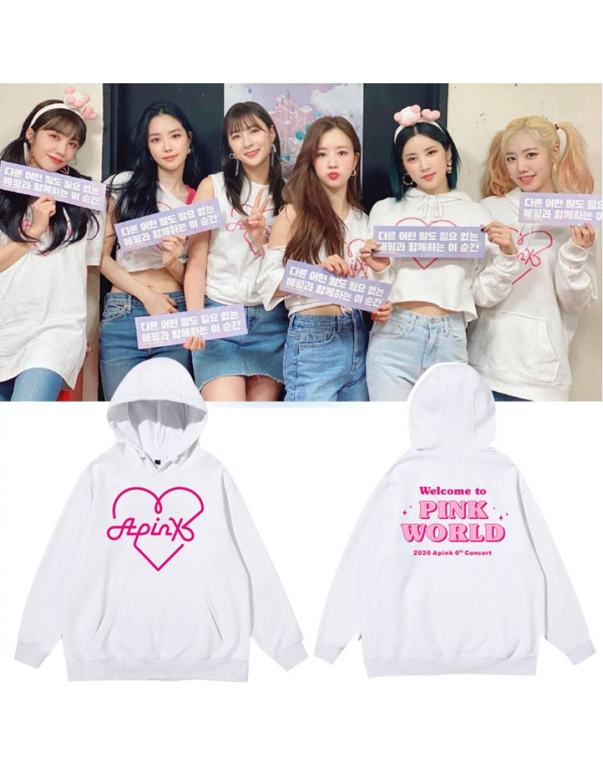 Moletom APINK Welcome To Pink World popup