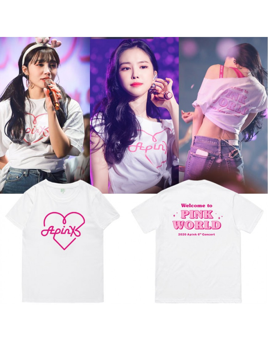Camiseta APINK Welcome To Pink World popup