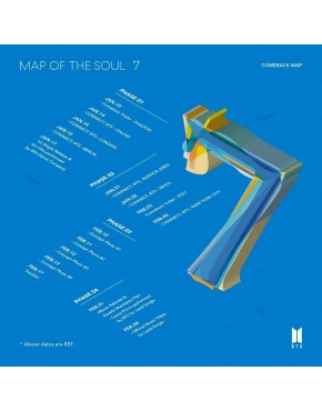 BTS - MAP OF THE SOUL : 7 SET ( 4 versões) CD