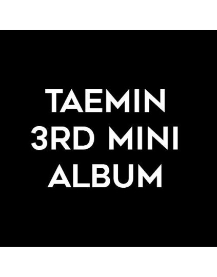 Taemin - 3rd Mini Album [Regular Edition]