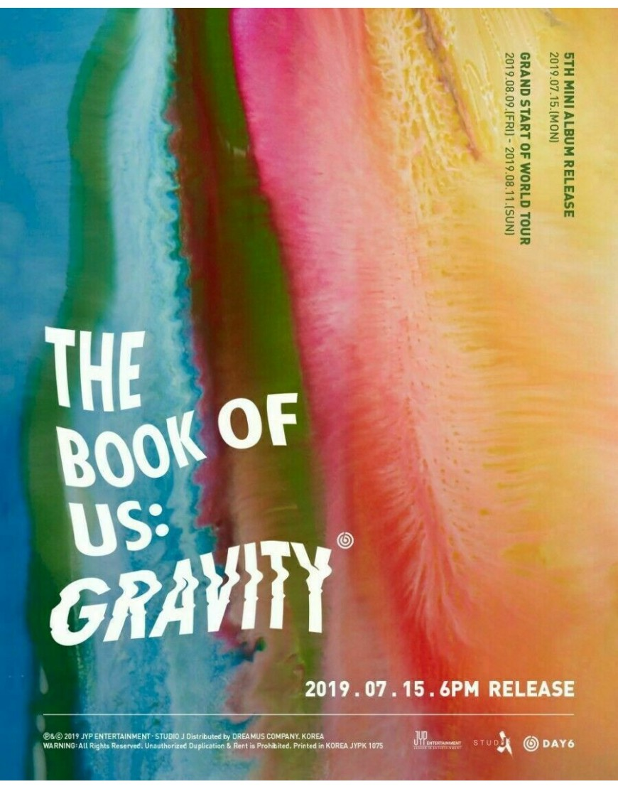 DAY6 - The Book of Us : Gravity CD popup