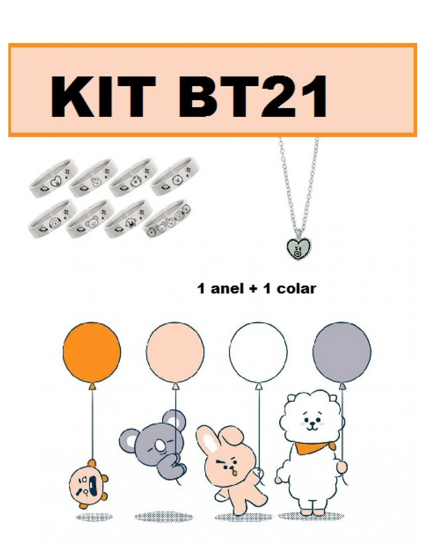 KIT BTS BT21 ( Anel+ Colar) popup