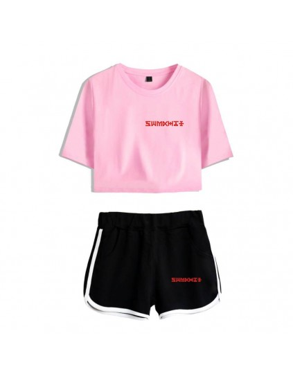 Conjunto Monsta X (Shorts+Cropped)