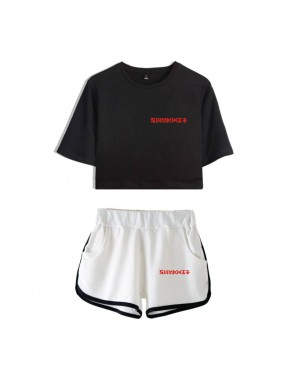 Conjunto Monsta X (Shorts+Cropped)