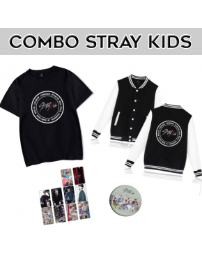 Combo Stray Kids ( Camiseta+jaqueta)