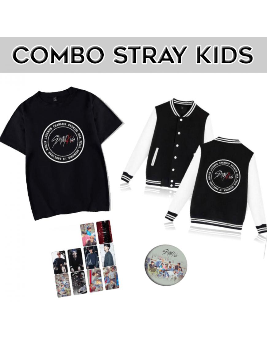 Combo Stray Kids ( Camiseta+jaqueta) popup