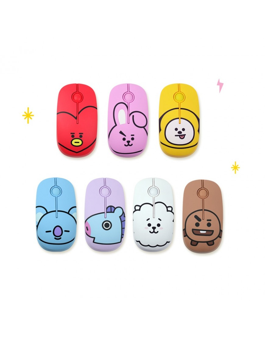 BTS BT21 Wireless Silent Mouse Oficial by Royche popup