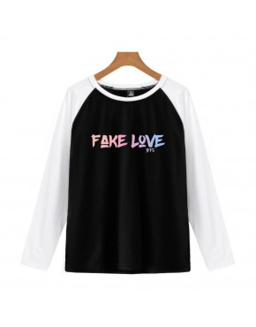 Camiseta Raglan Longa BTS Fake Love