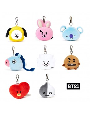 Chaveiro BTS BT21 Oficial Face Plush Doll