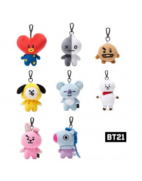 Chaveiro BTS BT21 Oficial Goods Bag Charm Doll