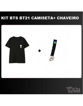 BTS x Line BT21 (Chaveiro + Camiseta)