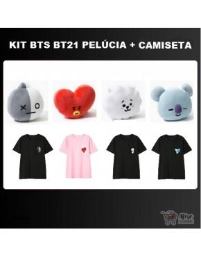 BTS x Line BT21 (Pélucia + Camiseta)