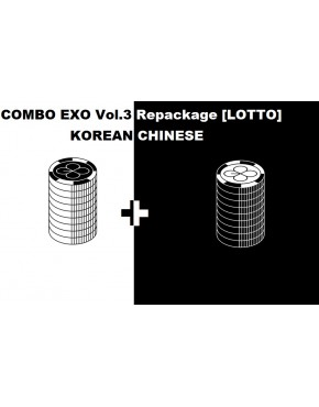 COMBO EXO - ALBUM VOL.3 REPACKAGE [LOTTO] (KOREAN + CHINESE VERSION)