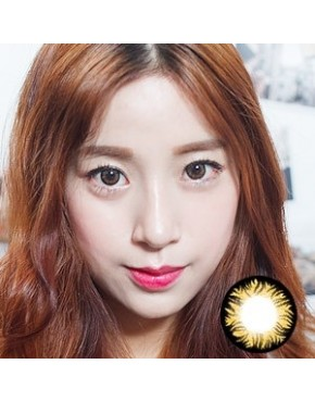 CIRCLE LENS Twinklling Pearl Stars - Brown
