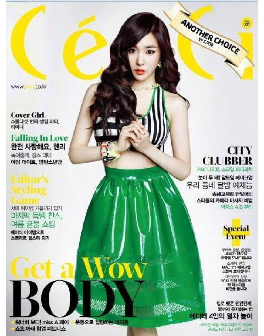 CECI ANOTHER GIRLS' GENERATION TIFFANY GIRL'S DAY Revista Agosto 2013  popup
