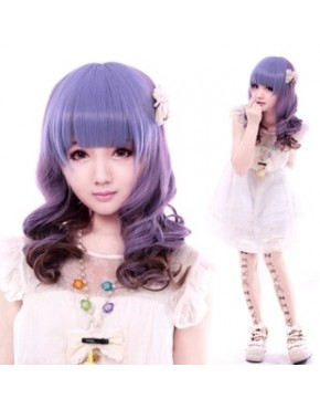 Peruca Lolita Cosplay Purple