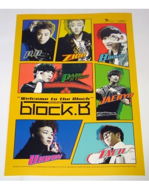 BLOCK B - Welcome To The Block REPACKAGE (2nd Mini Repackage) OFICIAL POSTER