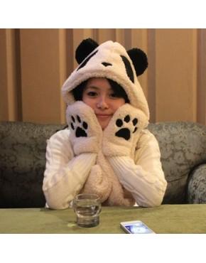 Touca com luva Panda