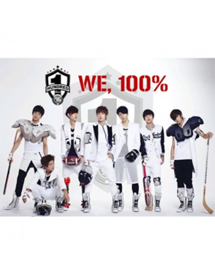 100% - Single Album Vol.1 [WE, 100%] CD popup